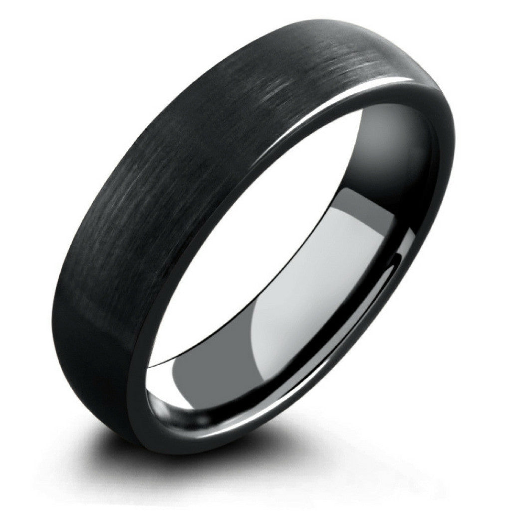 image rings tungsten band mens wood inlay genuine carbide jewellery ring wedding koa