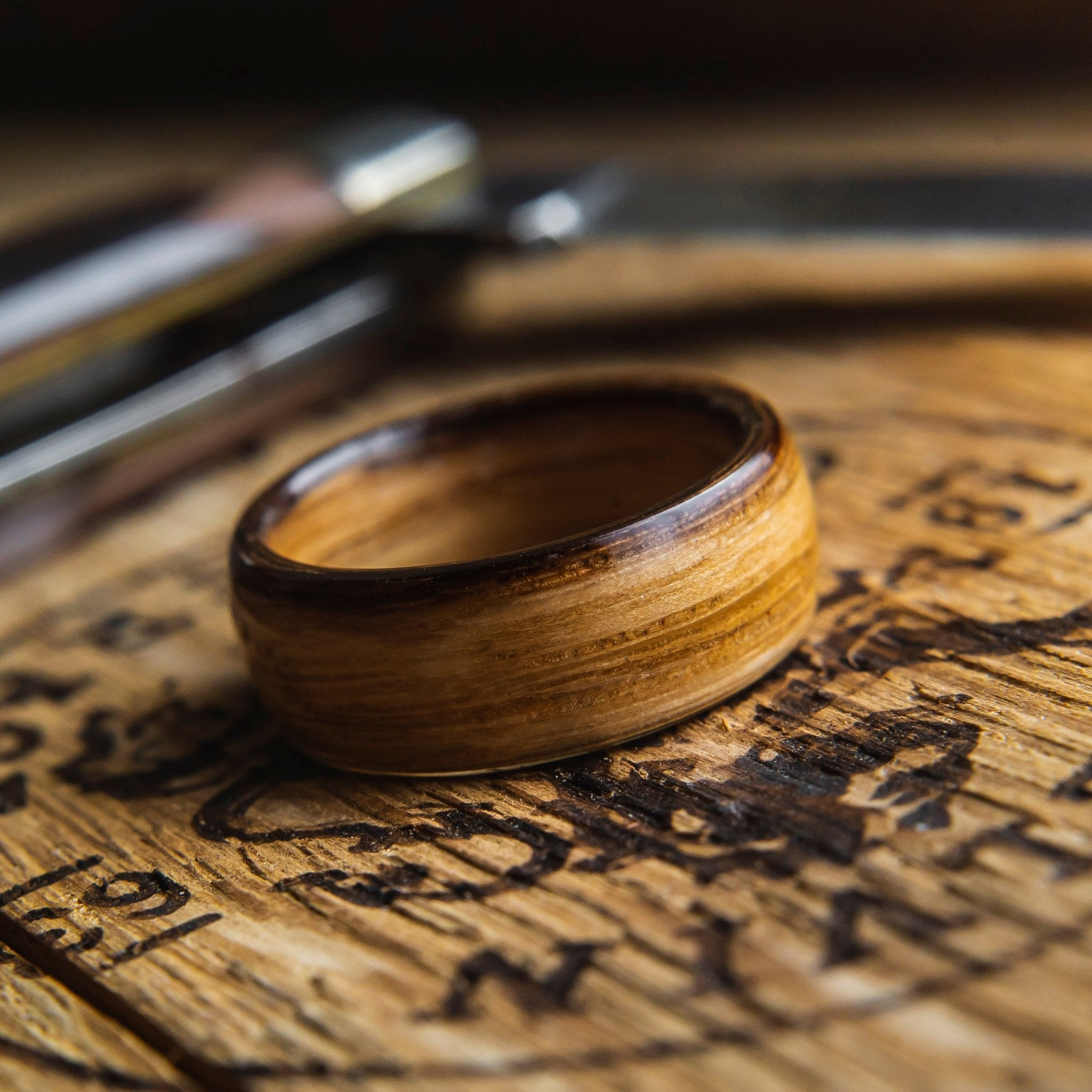 Mens Ring FREE Shipping Wooden Ring Wood Wedding Ring Wood Band Whiskey Barrel Ring Wood Wedding Band Mens Wooden Ring Wood Ring