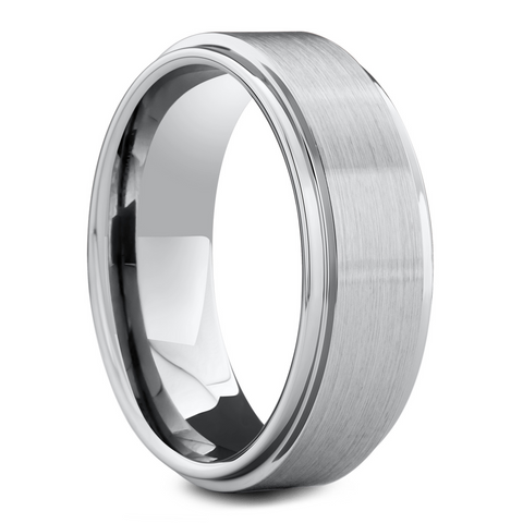 Men's Silver Classic Wedding Ring
