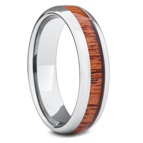 The Classic - Men's Original Wood Wedding Ring  (6mm Width) - Men's Wedding Rings