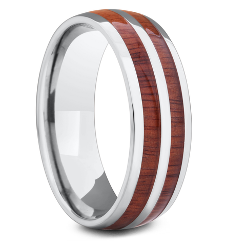 Men's Titanium Wood Wedding Ring