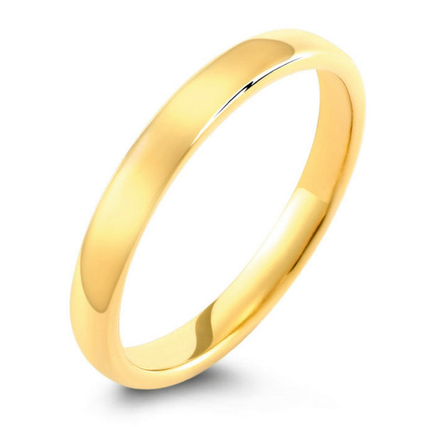 14k Yellow Gold High Polished 2mm Traditional Milgrain: Classic Polished Yellow Gold Tungsten Wedding Band-Widths