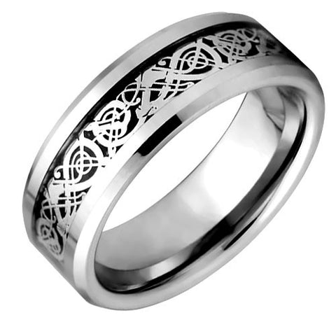 Black Celtic Tungsten Wedding Ring - NorthernRoyal - 1