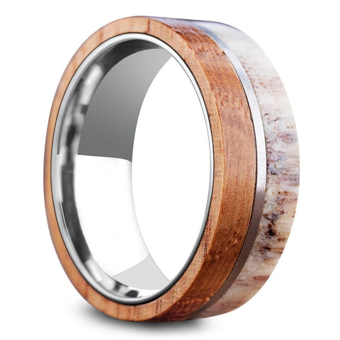 Men's Wooden Deer Antler Rings