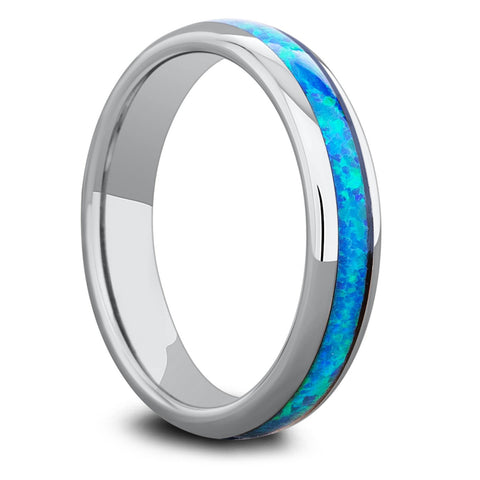 Womens Opal Wedding Band