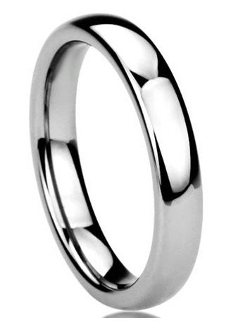 Classic 4mm Polished Titanium Wedding Band - NorthernRoyal