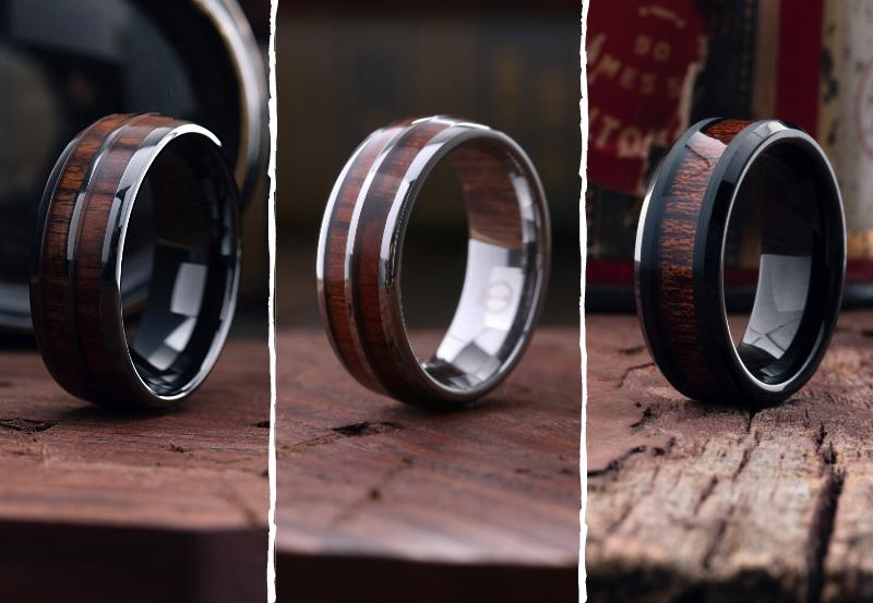 Wood Wedding Ring Collection