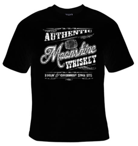 Authentic Moonshine Whiskey T-Shirt Men's - Life Rush Apparel