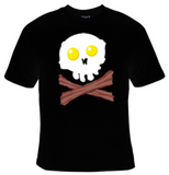 Bacon and Eggs Skull T-Shirt Women's - Life Rush Apparel