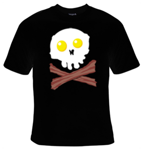 Bacon and Eggs Skull T-Shirt Men's - Life Rush Apparel