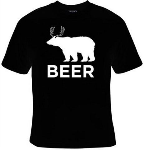 Beer Bear And Deer T-Shirt Women's - Life Rush Apparel