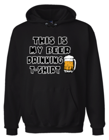 This Is My Beer Drinking T-Shirt Hoodie Sweatshirt Black - Men's / Women's - Life Rush Apparel