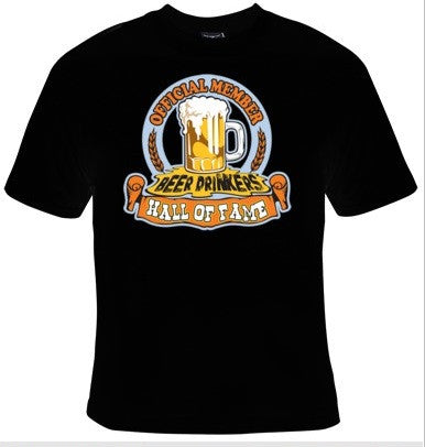 Official Member Beer Drinkers' Hall of Fame T-Shirt Men's - Life Rush Apparel