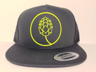 Beer Hop Hat Charcoal Grey Snapback - Life Rush Apparel