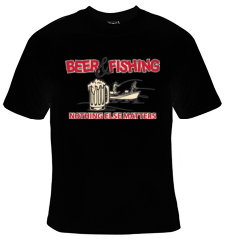 Beer and Fishing T-Shirt Men's - Life Rush Apparel