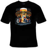 Bikes And Brews Chop Shop T-Shirt Women's - Life Rush Apparel