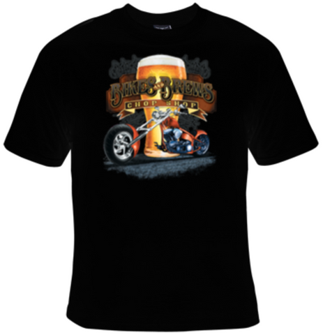 Bikes And Brews Chop Shop T-Shirt Men's - Life Rush Apparel