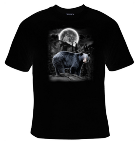 Black Bear Moon T-Shirt Women's - Life Rush Apparel