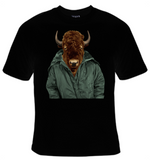 Buffalo In Jacket T-Shirt Women's - Life Rush Apparel