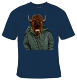 Buffalo In Jacket T-Shirt Men's - Life Rush Apparel