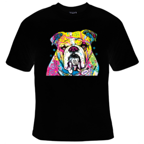Bulldog Neon T-Shirt Men's - Life Rush Apparel