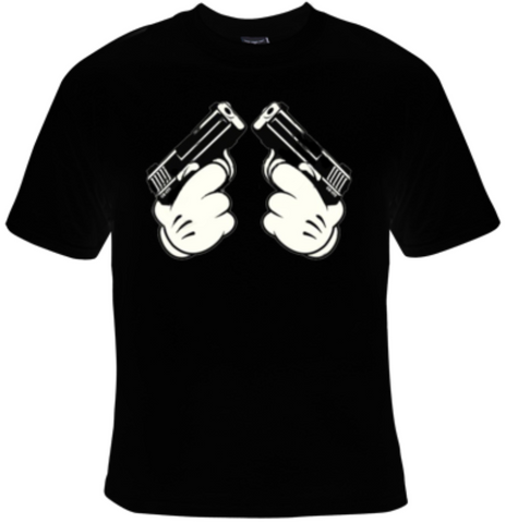 Cartoon Hands Guns T-Shirt Men's - Life Rush Apparel