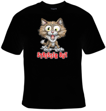 Cat Stressed Out T-Shirt Women's - Life Rush Apparel
