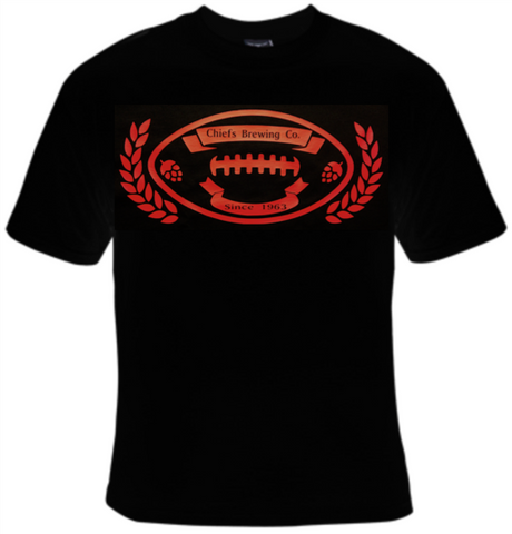 Chiefs Brewing Company Football T-Shirt Men's - Life Rush Apparel