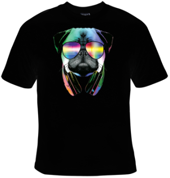 DJ Pug T-Shirt Men's - Life Rush Apparel