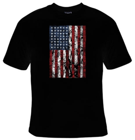 Distressed American Flag T-Shirt Men's - Life Rush Apparel