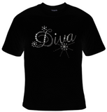 Diva Rhinestuds T-Shirt Women's - Life Rush Apparel