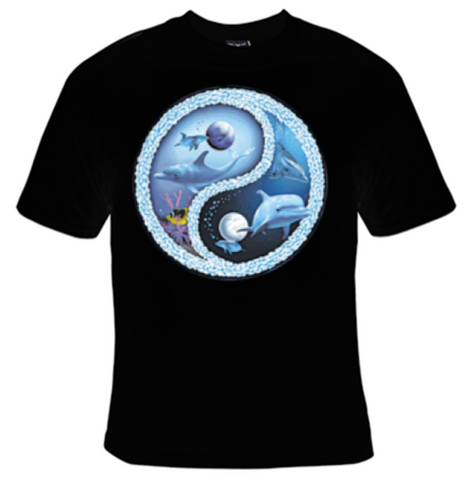 Dolphin Yin Yang T-Shirt Women's - Life Rush Apparel