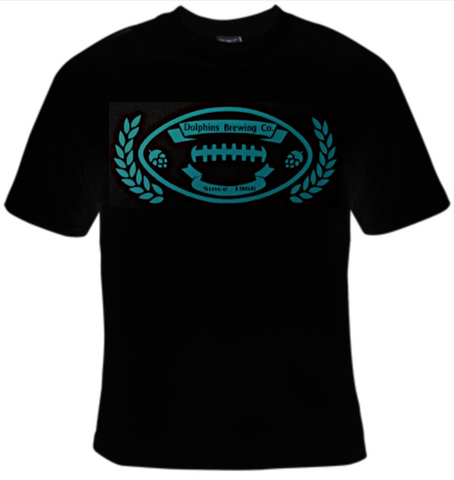 Dolphins Brewing Company Football T-Shirt Men's - Life Rush Apparel