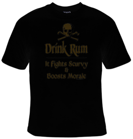 Drink Rum It Fights Scurvy T-Shirt Women's - Life Rush Apparel