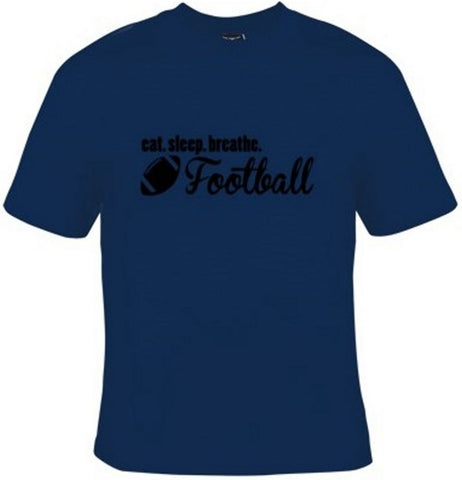 Eat Sleep Breathe Football Black Text T-Shirt Men's - Life Rush Apparel