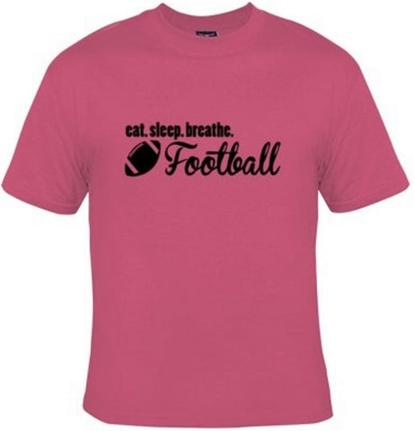 Eat Sleep Breathe Football Black Text T-Shirt Women's - Life Rush Apparel