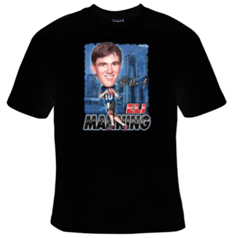 Eli Manning New York Giants Football T-Shirt Women's - Life Rush Apparel