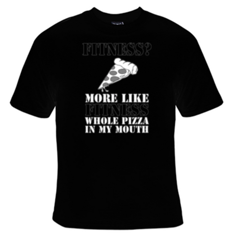 Fitness Pizza T-Shirt Men's - Life Rush Apparel