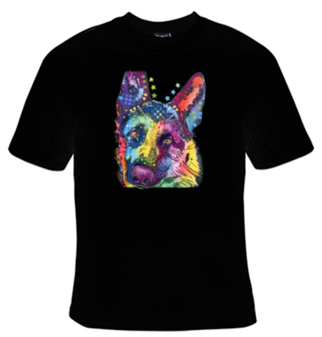 German Shepherd Neon T-Shirt Men's - Life Rush Apparel