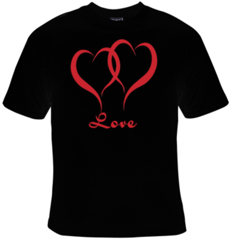 Love Glitter Heart T-Shirt Women's - Life Rush Apparel