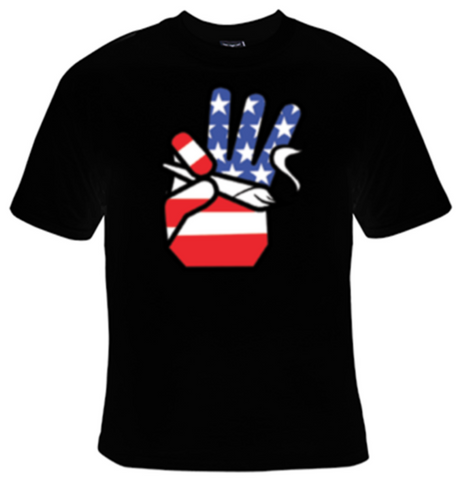 Hand Holding Joint USA T-Shirt Men's - Life Rush Apparel