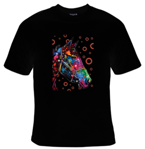 Horse Neon T-Shirt Men's - Life Rush Apparel