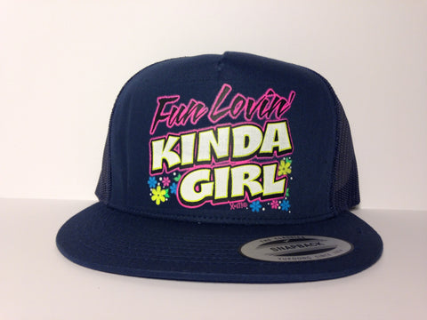 Fun Lovin' Kinda Girl Hat Blue Snapback - Life Rush Apparel