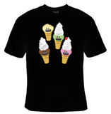 Ice Cream Faces T-Shirt Women's - Life Rush Apparel