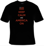 Keep Calm And America On T-Shirt Women's - Life Rush Apparel