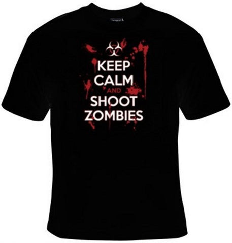 Keep Calm And Shoot Zombies T-Shirt Women's - Life Rush Apparel