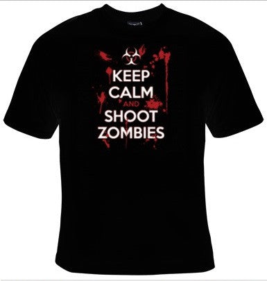 Keep Calm And Shoot Zombies T-Shirt Men's - Life Rush Apparel