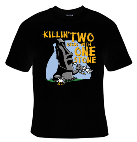 Killin' Two Birds With One Stone T-Shirt Men's - Life Rush Apparel