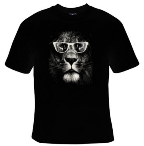 Lion Glasses T-Shirt Women's - Life Rush Apparel