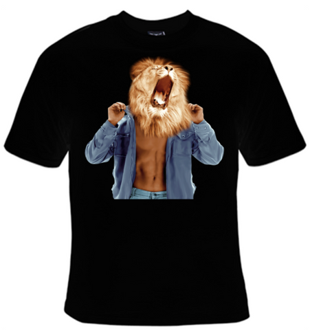 Lion Roar Man T-Shirt Women's - Life Rush Apparel